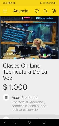 clases on line tecnicatura de la voz