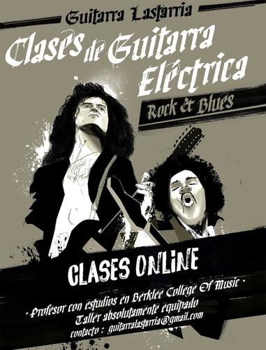 clases online de guitarra eléctrica.
