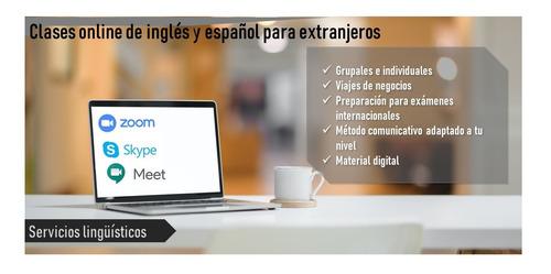 clases online de inglés - todos los niveles-zoom-skype-meets
