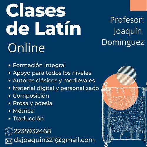 clases online de latín. formación de cero. todos los niveles