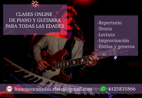 clases online de piano y guitarra