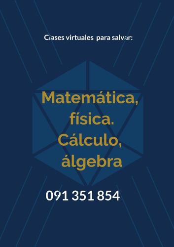 clases online matemática física calculo álgebra