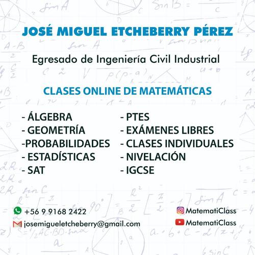clases online matemáticas básica, media y ptes (ex psu)