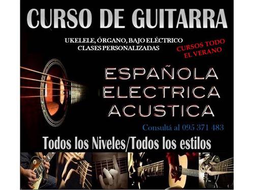 clases online y presenciales de guitarra,ukelele,bajo,órgano