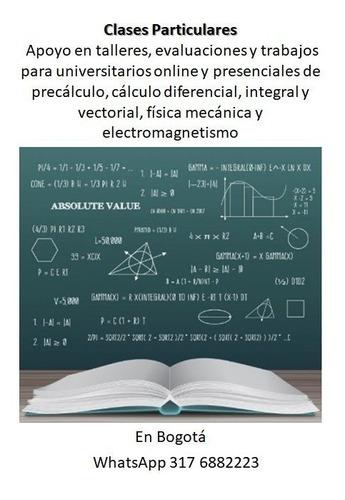 clases particulares a domicilio, online matemáticas y física