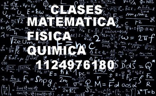 clases particulares análisis mat/algebra/fisica/ química