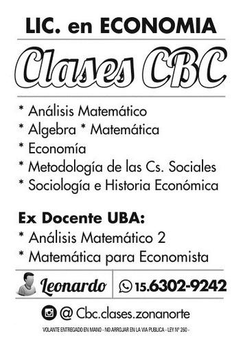 clases particulares analisis matematico / matematica