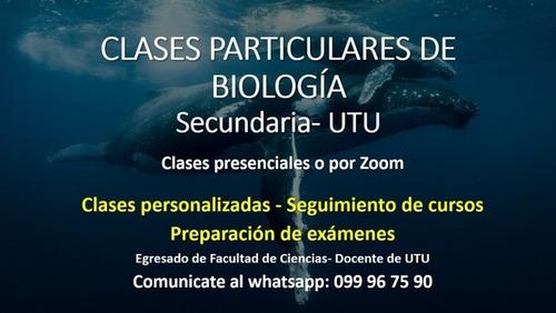 clases particulares de biología- secundaria y utu