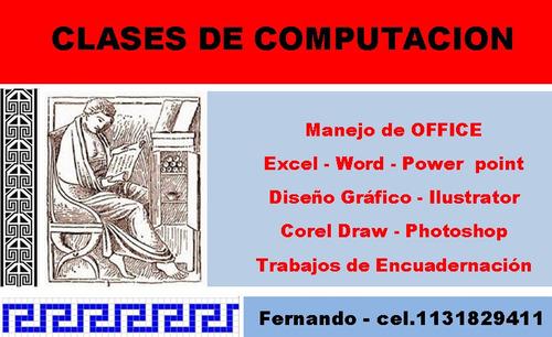 clases particulares de computacion / diseño grafico