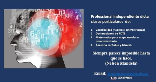 clases particulares de contabilidad y matematica