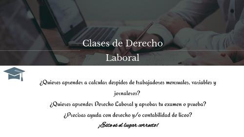 clases particulares de derecho laboral y liq. de sueldos.
