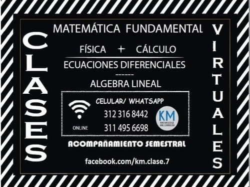 clases particulares de física y cálculo.