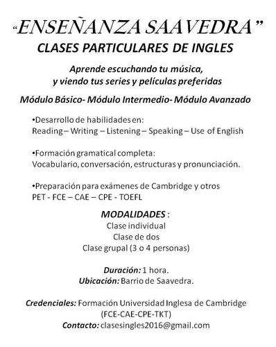 clases particulares de ingles online por skype o whatsapp!