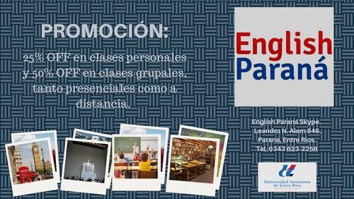 clases particulares de inglés por internet