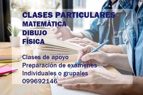 clases particulares de matemática dibujo y física