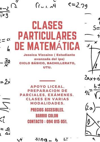 clases particulares de matemática, secundaria y utu.