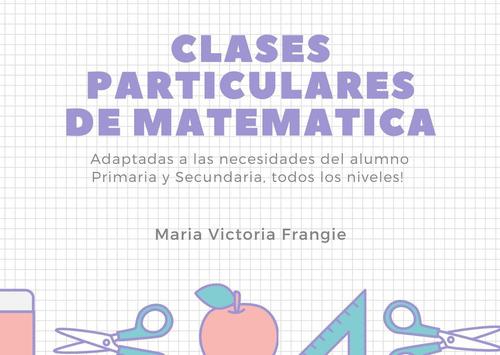 clases particulares de matemática todos los niveles