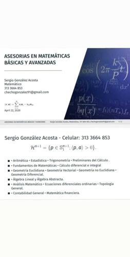 clases particulares de matemáticas básicas y avanzadas