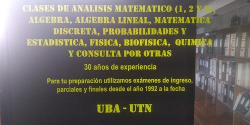 clases particulares de matemáticas,física,química.