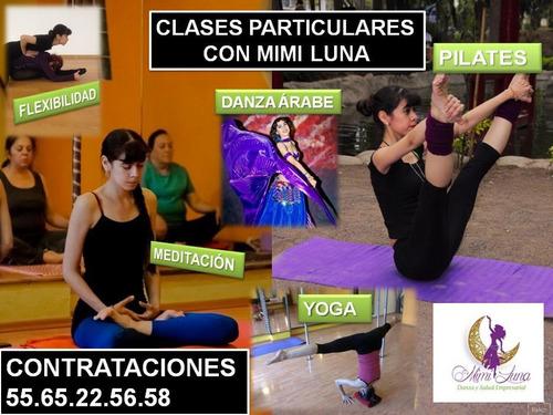 clases particulares de yoga, danza árabe y flexibilidad