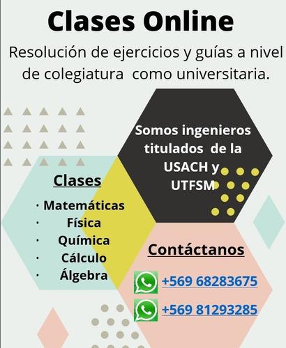 clases particulares en matematica, fisica y quimica.