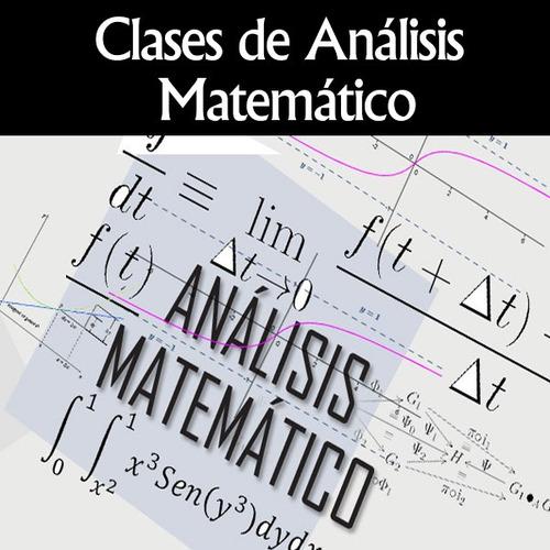 clases particulares estadística análisis matemático y fisica
