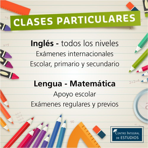 clases particulares: inglés - apoyo escolar - a domicilio