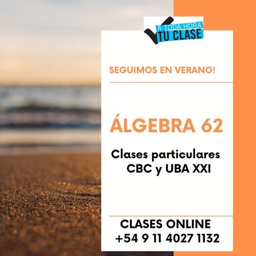 clases particulares matematica algebra analisis sec cbc univ