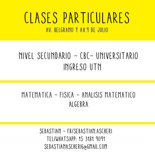 clases particulares matemática, análisis matemático, algebra