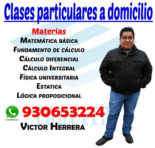clases particulares | matematica calculo fisica upc usil esa