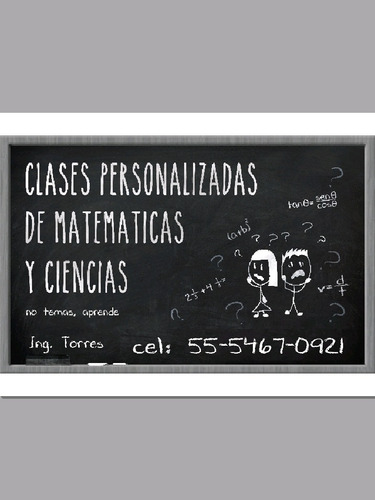 clases particulares matemática, física, química.