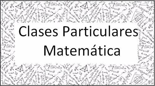 clases particulares matemática y química