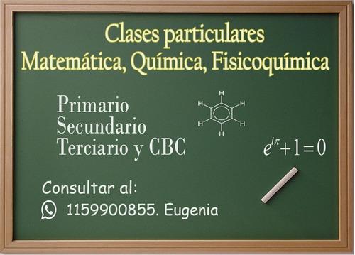 clases particulares matemáticas, química, fisicoquímica