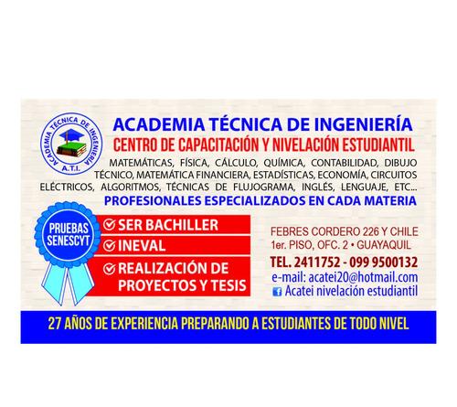 clases particulares nivelación estudiantil y universitaria