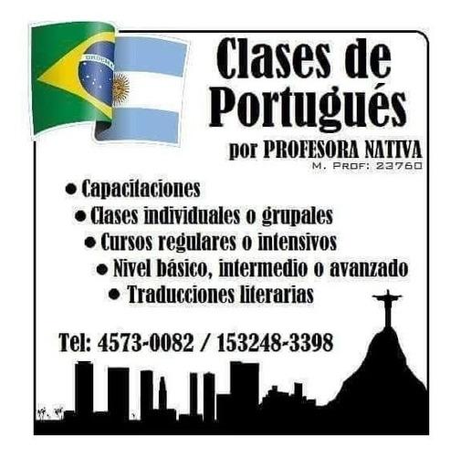 clases particulares on-line de portugués