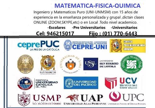 clases particulares online de matematica fisica quimica