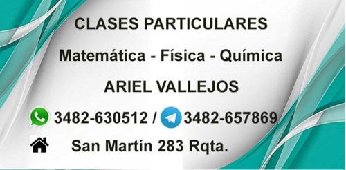clases particulares online matemática, física y química.
