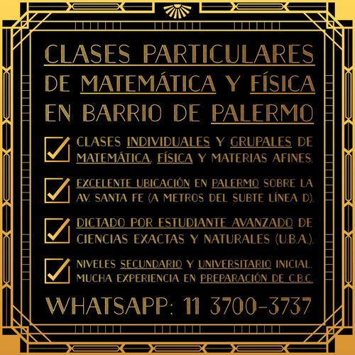 clases particulares palermo matemática física cbc secundario