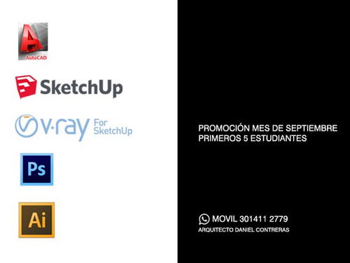 clases particulares photoshop + autocad + sketch up