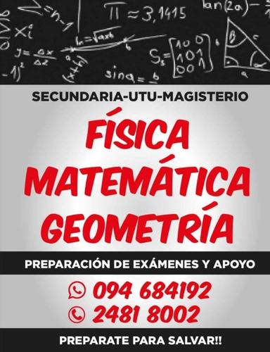 clases particulares profesor matemática física geometría