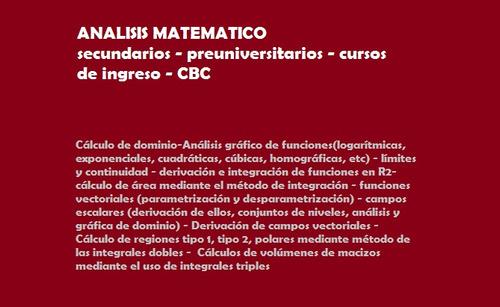 clases particulares quimica cbc , matematicas y biologia