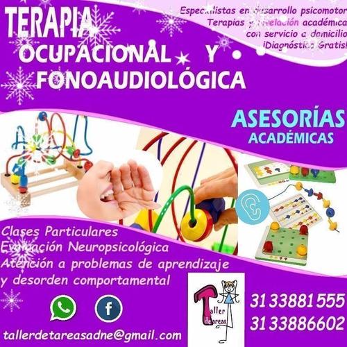 clases particulares, terapia ocupacional y fonoaudiología
