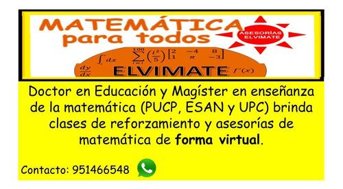 clases particulares virtuales de matemática.