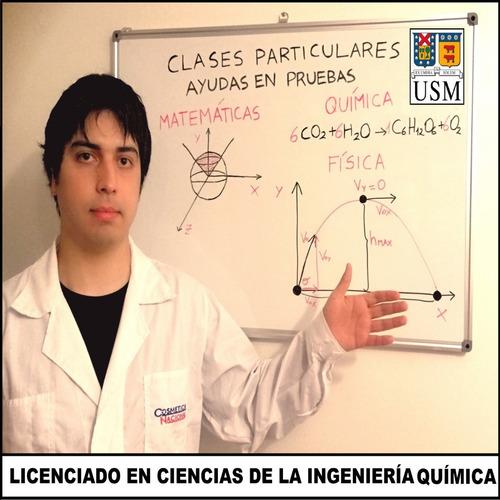 clases particulares y ayuda en pruebas matemáticas, química