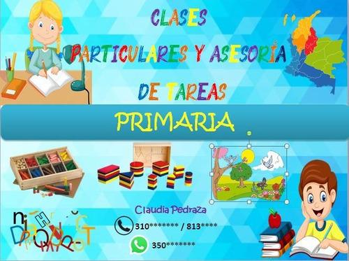 clases particulares y refuerzo de tareas primaria