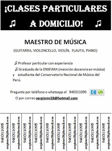 clases particulares y/o grupales de guitarra y violoncello