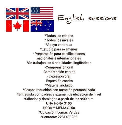 clases personalizadas o grupos reducidos de inglés.