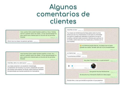 clases personalizadas on-line de matemáticas, física, etc.