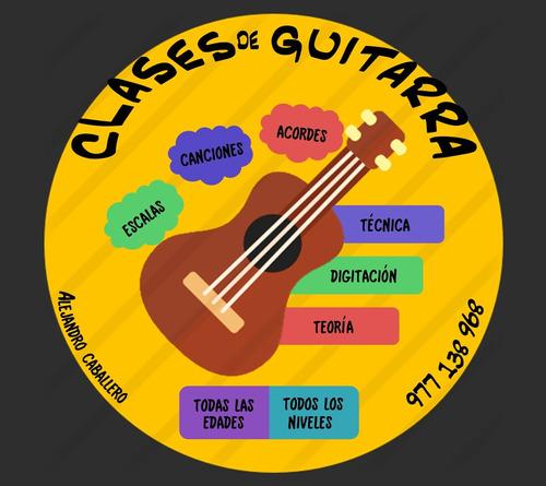 ¡clases personalizadas/grupales de guitarra!