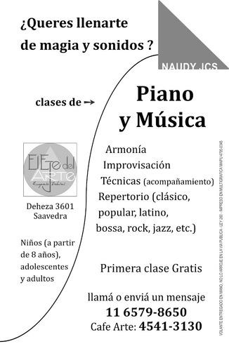 clases piano música 1 hr gratis,  zona norte